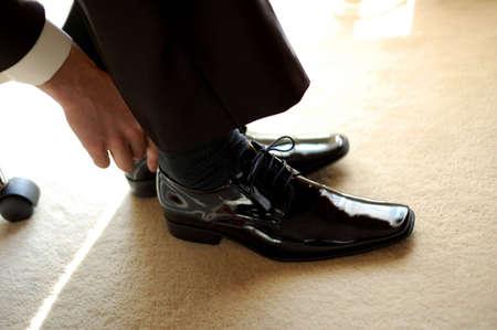 polished: Zapatos negro Foto de archivo