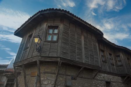 cite: historical wooden building at landmark cite town Nesebar, Bulgaria, Europe Stock Photo