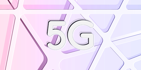 5g network technology data speed connection abstract background banner with layers of internet web concept. high key vector illustration