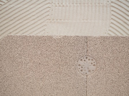 closeup building house with low density foam concrete blocks Imagens