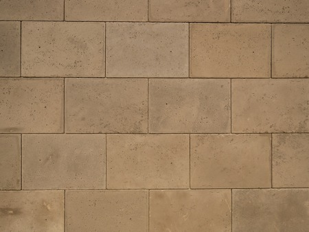 closeup of grey concrete block wall pattern background Imagens