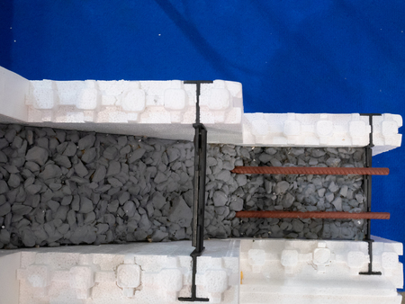 blocks with armored concrete inside - building under construction