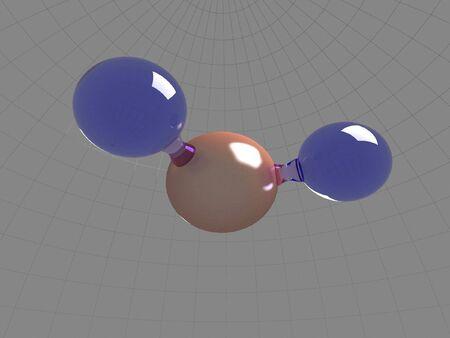 Molecule of water H2O Stock Photo - 5323542