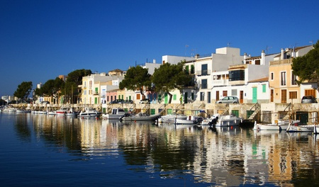 The harbor of Porto Colom on the island of Mallorca.