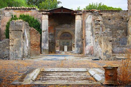The ancient city of Pompeii.