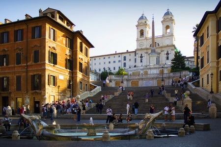spanish steps: Spanish Steps in Rome. Editorial