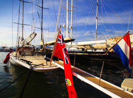 Port and yachts in Saint Tropez.