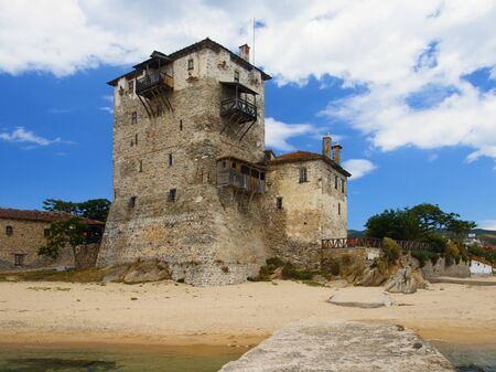 Tower in Ouranoupolis. Stock Photo