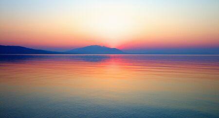 Sunrise at the Aegean Sea.