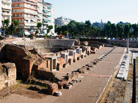 Historic monuments in the center of Thessaloniki.