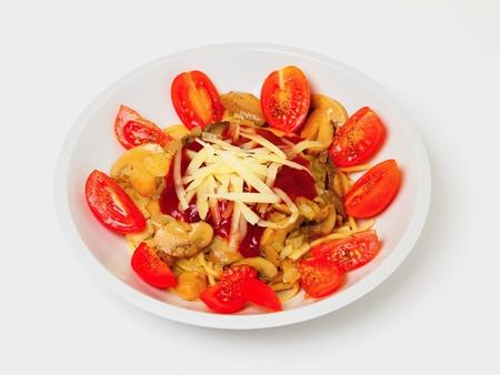 Italian spaghetti with appendix. Imagens