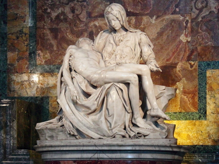 Vatican Pieta in St. Basil's Cathedral. Petra.