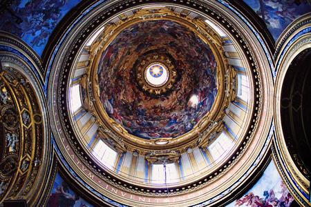 Dome and frescoes in Santa Maria Maggiore. Editorial