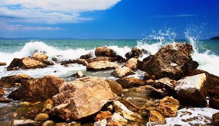Strymon Gulf in Northern Greece. Imagens - 107350870