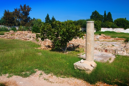 The archaeological site of Hammamet. Imagens - 111845122