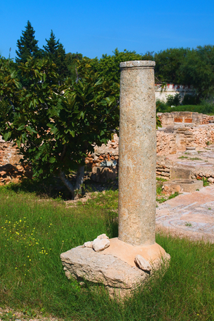 The archaeological site of Hammamet. Imagens - 111845123