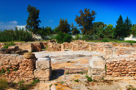 The archaeological site of Hammamet. Imagens - 111845131