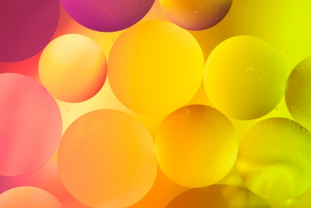 Abstract colorful bubbles photo