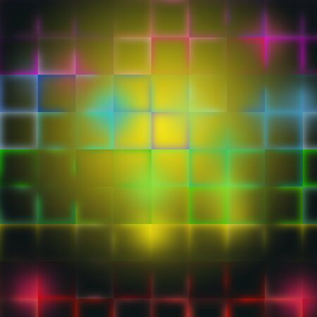 captivating: Colorful squares with bursts of light Stock Photo