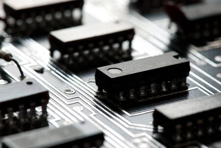 Abstract printed circuit board photo