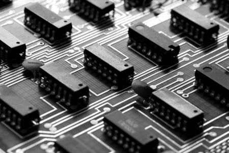 computer chip: Technology abstract Stock Photo