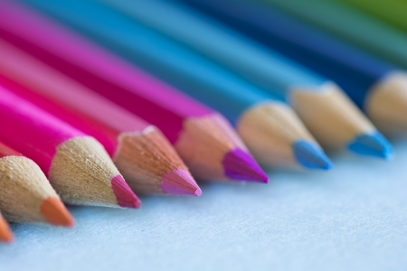 Abstract background of pencils with extremely shallow dof. Selective focus photo