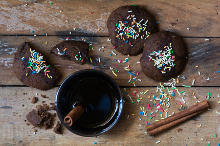 Christmas cookies and mulled wine  photo