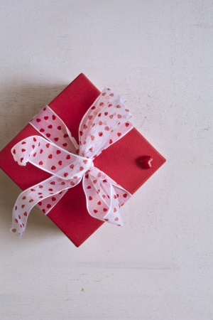 Small gift box with heart photo