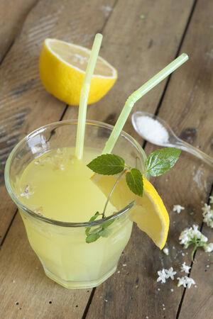 Fresh cold ginger lemonade photo