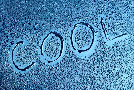 damp: La parola scritta su una superficie umida Archivio Fotografico