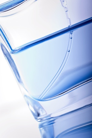 Close-up bottle of perfume of blue color Stock Photo