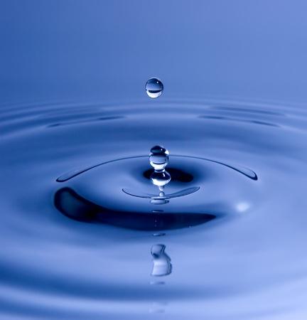 Macro de splash eau bleue