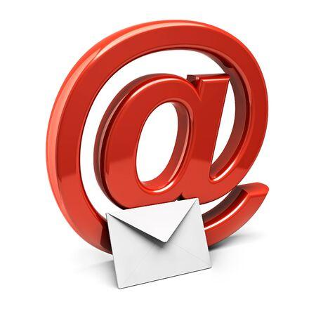 Email: Drei Dimension Zeichen der e-mail Lizenzfreie Bilder