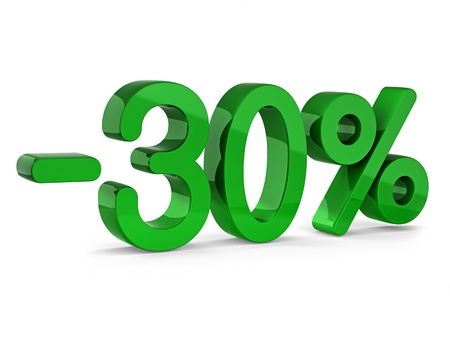 -30 percent sign of sale photo