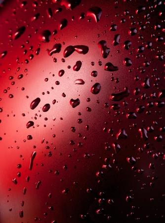 Abstract macro of water drops photo