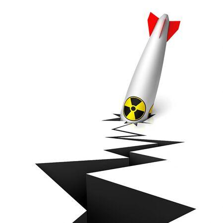 hydrogen bomb: 3d not blown up nuclear bomb Stock Photo