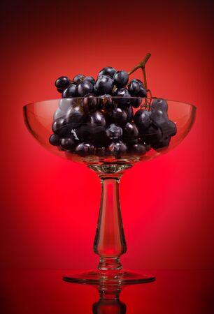Ripe grape in glass bowl Stock Photo - 11575550
