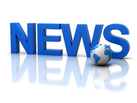 The three-dimensional word news  photo