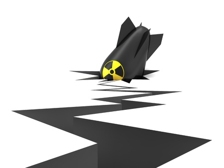 The fallen nuclear military bomb Stock Photo - 11588301