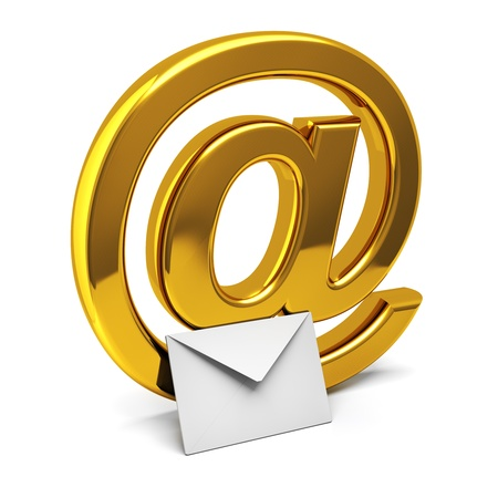 orthographic: Three dimensional icon of e-mail Stock Photo