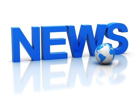 news icon: The three-dimensional word news