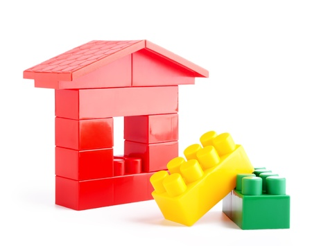 lego: The house construction by lego blocks