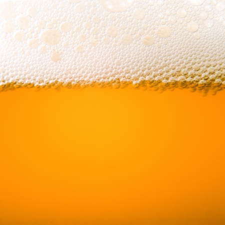 Macro bubbles of beer froth Stock Photo
