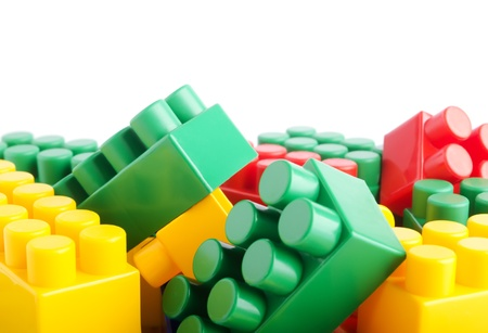 Toy bricks  isolated on a white background