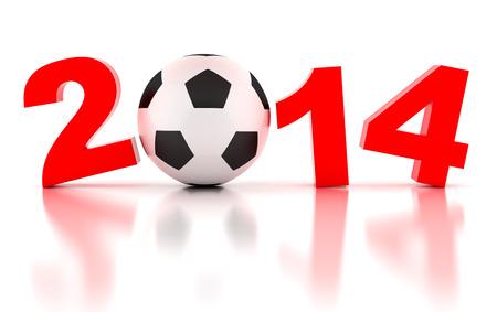 FIFA World Cup of 2014. 3d render illustration illustration