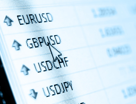 Currency exchange rate for forex market photo