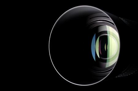 カメラのズームレンズのクローズ アップ写真