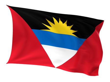 antigua flag: Flag of the Antigua on a white background.