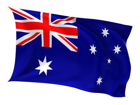 Flag of the Australia on a white background. photo