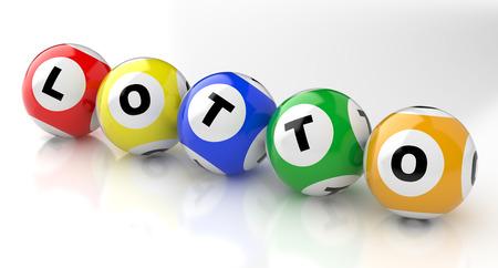 loteria: 3d bolas de colores de la lotería